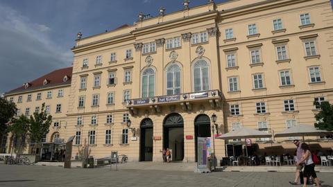 Museums quartier in Vienna Footage