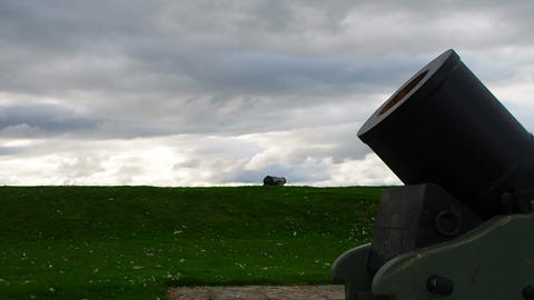 Fort George, Inverness, United Kingdom - 20 august 2017: Bombard and cannon on a Live Action