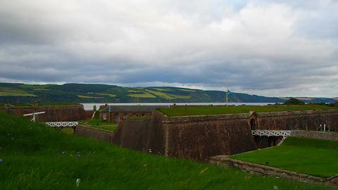 Fort George, Inverness, United Kingdom - 20 august 2017: View of the sea and the Footage