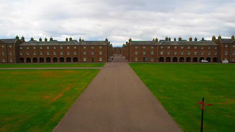 Fort George, Inverness, United Kingdom - 20 august 2017: Main Avenue and Live Action