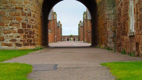 Fort George, Inverness, United Kingdom - 20 august 2017: View of Fort George's Live Action