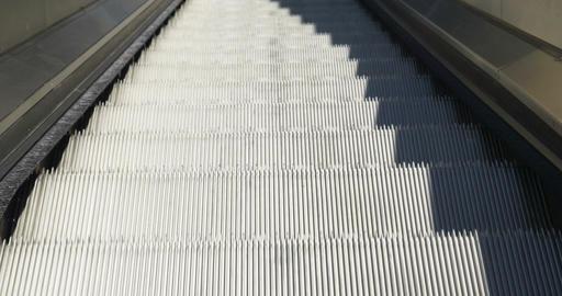 Escalators Down Close Up Footage