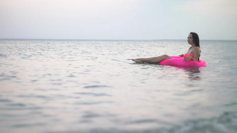 Girl in the sea on vacation Image