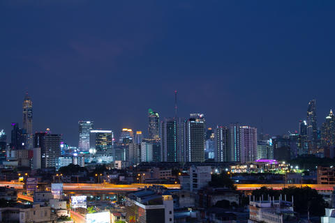 Bangkok urban view from Prime hotel view point(near Hua Lamphong Fotografía