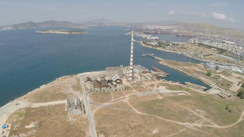 Industrial Area at Drapetsona of Piraeus Image