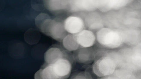 Slow motion of bright sparkling water in darkness. Slow…, Live Action