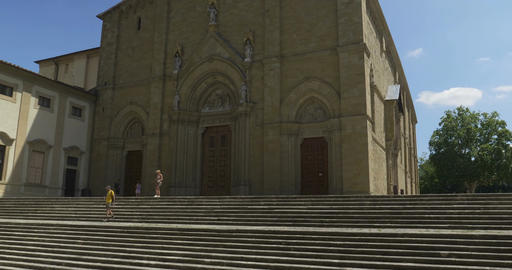 Arezzo Cathedral Facade Footage