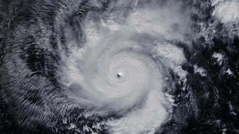 Hurricane Storm, satellite view. Elements of this image…, Banco de Videos Animados