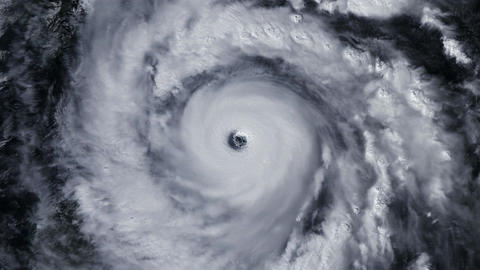 Hurricane Storm, satellite view. Elements of this image furnished by NASA Animación