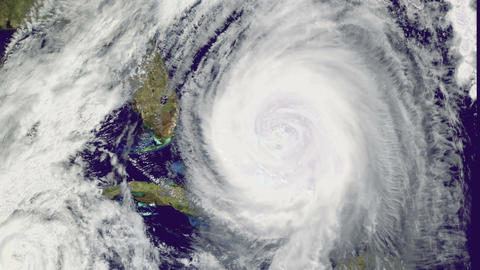 Hurricane Storm, satellite view. Elements of this image furnished by NASA Animation