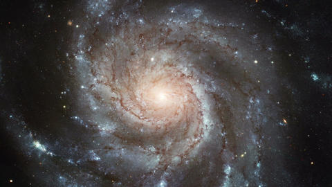 Rotating galaxy view from space Animation