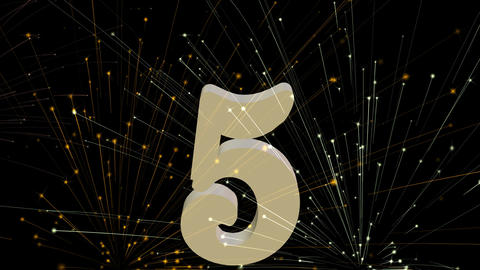 New Year countdown from number 10, second intervals. 3d... Stock Video Footage