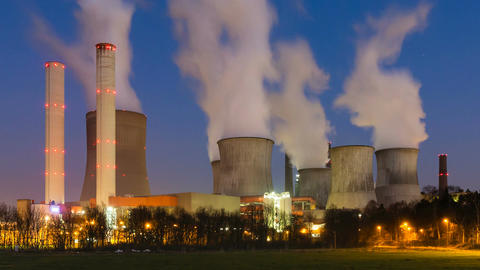 Day To Night Power Station Timelapse Image