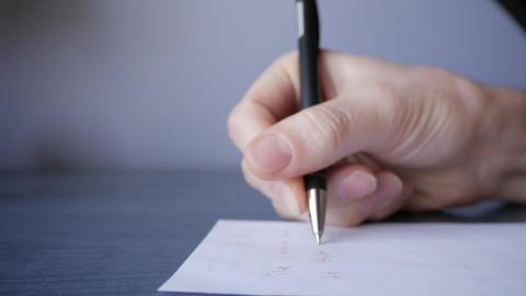 Writing medical prescription close up Footage