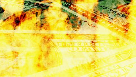 Burning dollar bills Footage