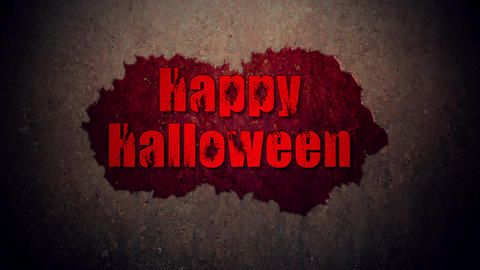Happy Halloween Blood Text Filmmaterial