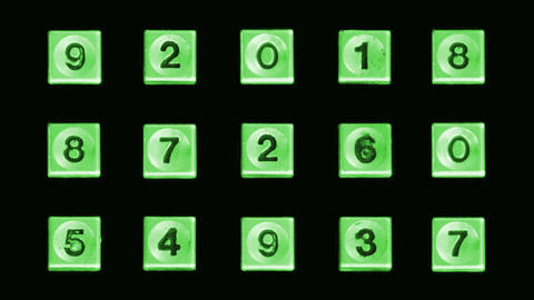 Green telephone numbers Footage