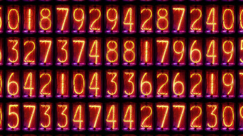 Zoom out counting digits Footage