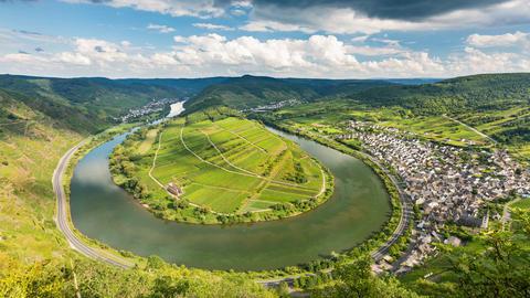Moselle Riverbend Timelapse, Germany in 4K Footage