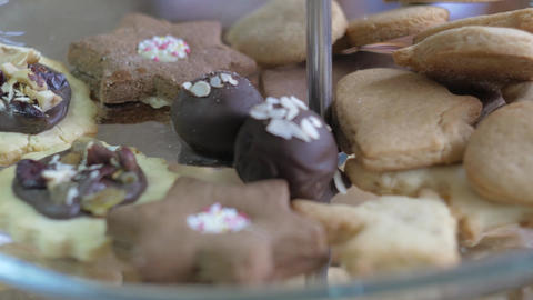 Beautiful handmade cookies in a pastry shop Footage