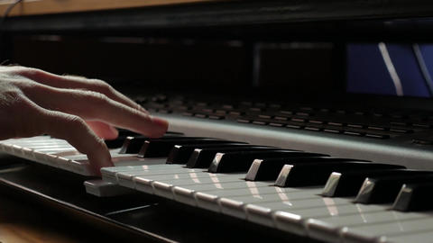 Gentle piano music playing by a skilled pianist Footage