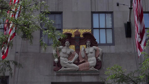 New York Commerce and Industry Bas-Relief Live Action