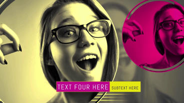 Color Circles Slideshow After Effects Templates