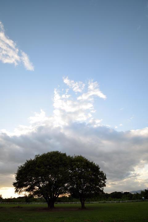 Japanese river and sky Fotografía
