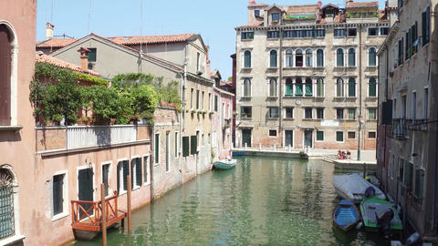 Canal in Venice, view from the bridge Footage