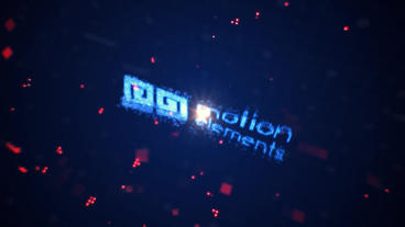 Tech Particles Logo After Effects Template
