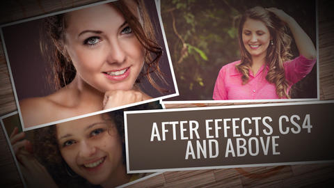 Falling Pictures: After Effects Project After Effects Template