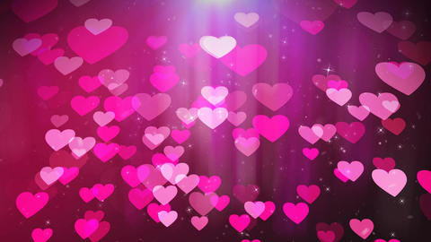 Love hearts animation with pink background Animation
