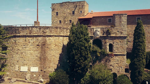 Ancient fortress in Trieste Footage
