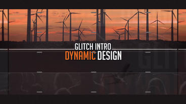 Dynamic Glicth Opener After Effectsテンプレート