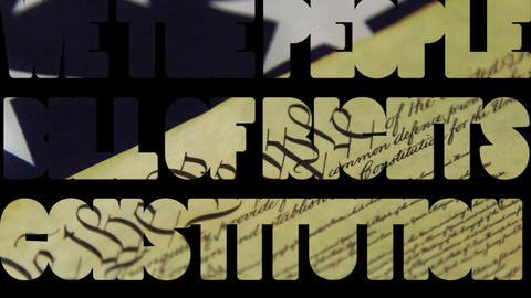 Bill of Rights Constitution - We The People Government and politics concept Footage