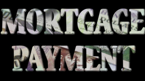 Mortgage Payment - Expense and debt collecting concept Footage