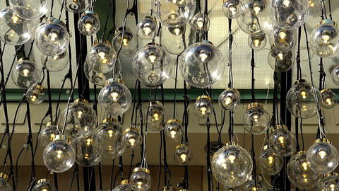 Decorative illumination of a plurality of lamps Footage