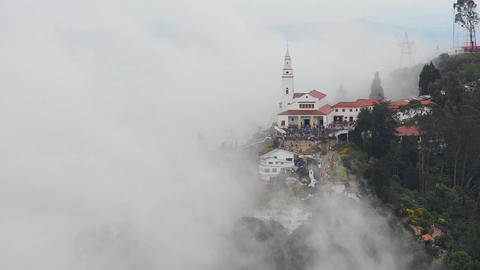 Monserrate Church and Clouds Footage