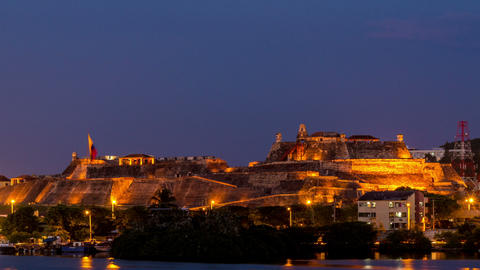 Cartagena Fortress Zooming Time Lapse Footage