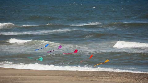 Fast Moving Kites Footage