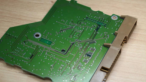 Electronic Board Of The Hard Disk stock footage