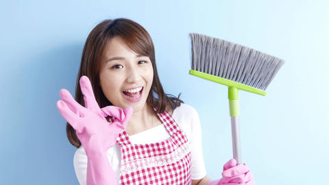 beauty housewife smile happily Footage