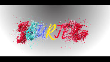 Watercolor intro particle intro Plantilla de After Effects