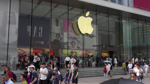 Apple Store In Downtown Shanghai China Asia Footage
