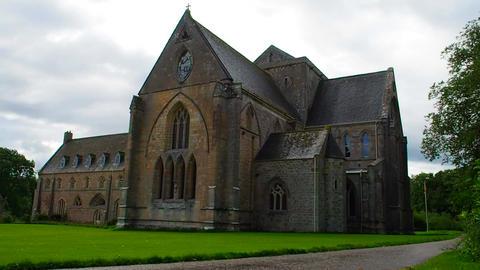 View of Pluscarden Abbey, Scotland Archivo