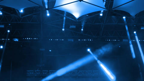 Spotlights on Stage During the Concert. Seamless Loop Archivo