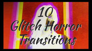Glitch Horror Transitions Premiere Proテンプレート