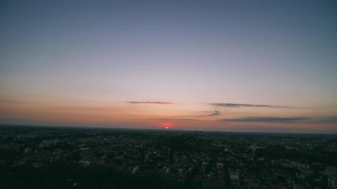 Sunrise over city - cityscape wide angle timelapse Footage
