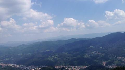 Mountain landscape hyperlapse - moving time-lapse Image
