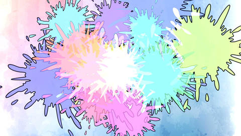 Colorful ink drop in water. Falling colorful ink in water with colored Animation